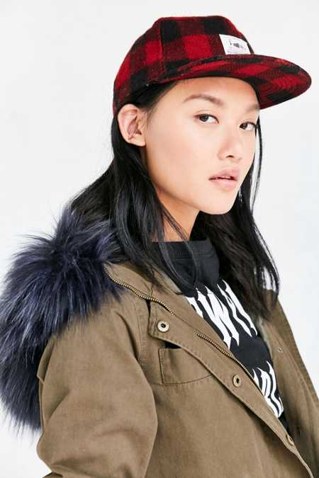 Woolrich Plaid Wool Baseball Hat