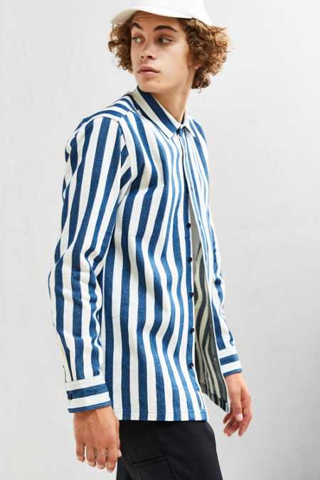 Publish Alpha Striped Denim Over Shirt