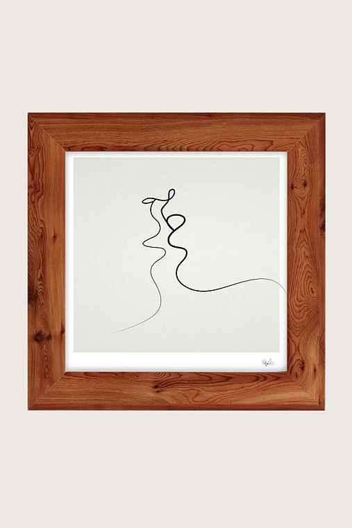 Quibe Kiss Art Print,CEDAR,16X16
