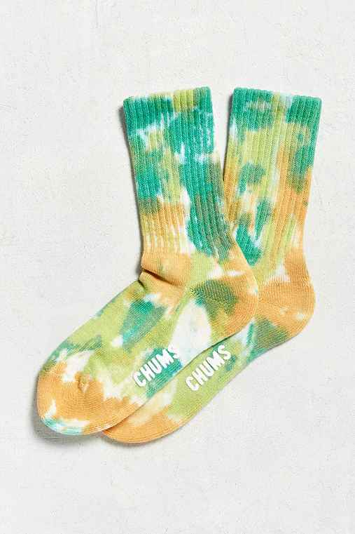 Chums Tie-Dye Bulky Sock,LIME,ONE SIZE