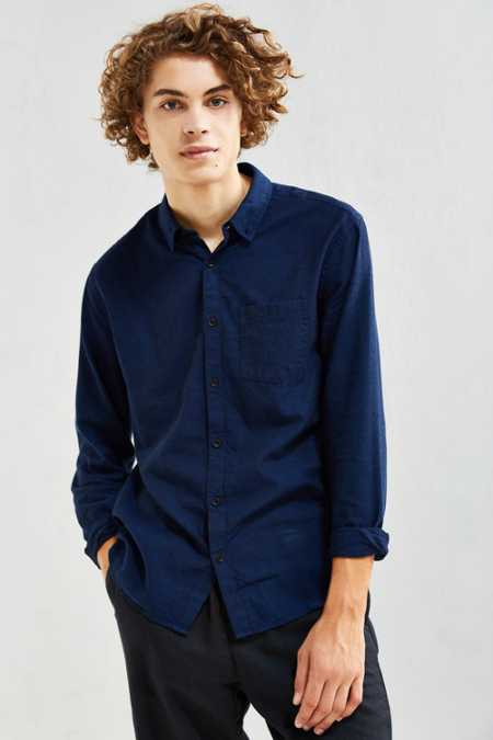 UO Stevens Cross-Dyed Button-Down Shirt