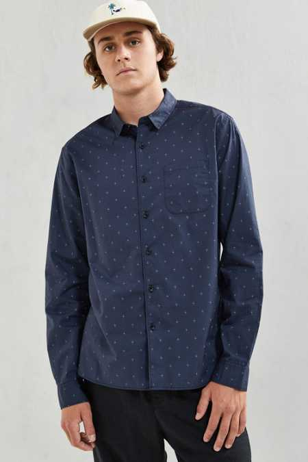 UO Foulard Print Button-Down Shirt