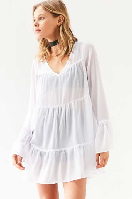 Kimchi Blue Abby Tiered Babydoll Tunic Top