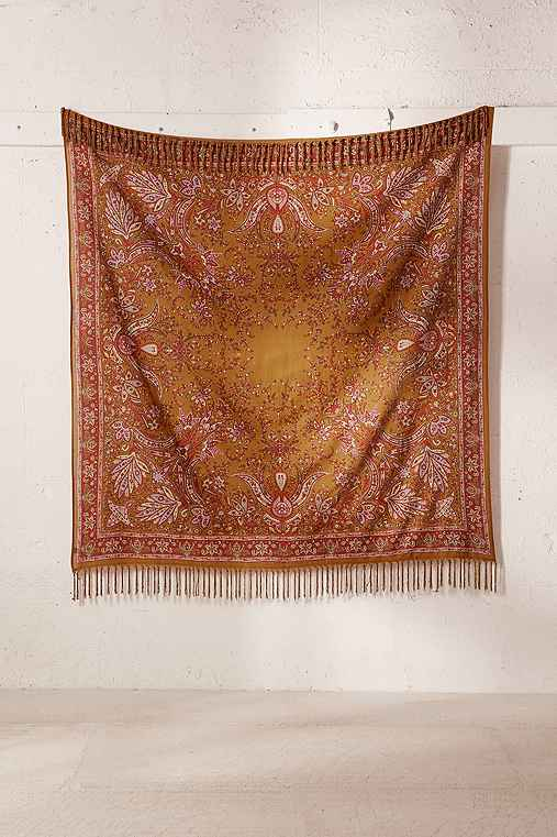 Oriel Medallion Tapestry,GOLD,ONE SIZE