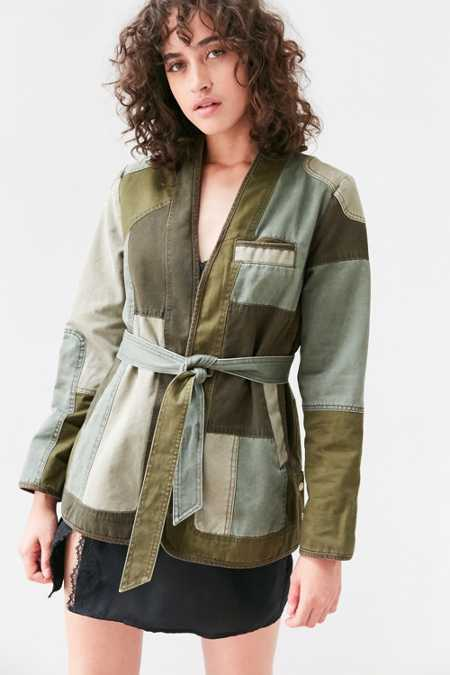 Silence + Noise Patchwork Surplus Wrap Jacket