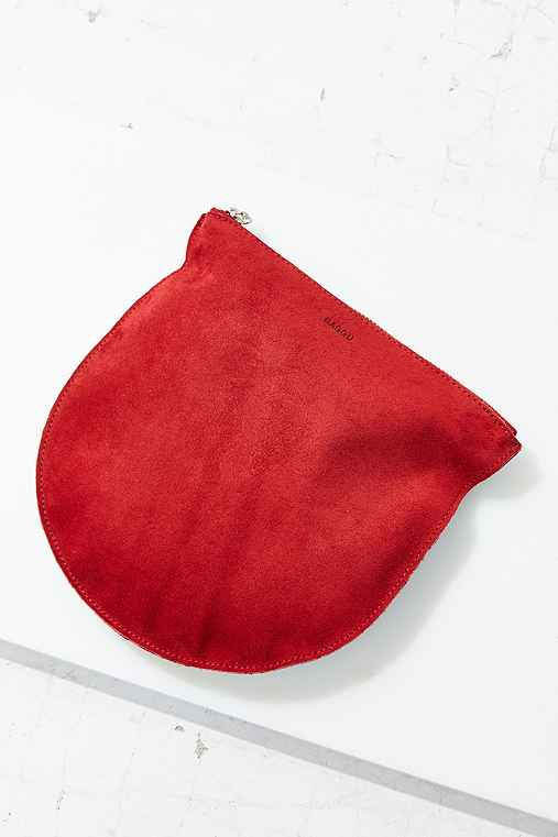 BAGGU Large Half-Moon Pouch,BERRY,ONE SIZE