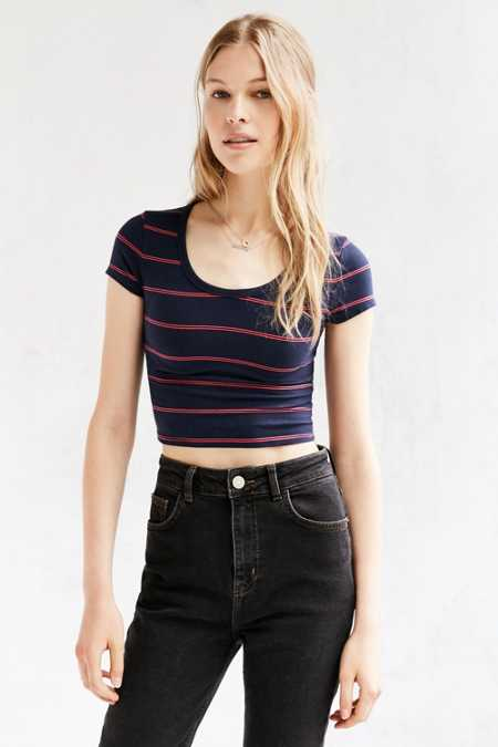 Silence + Noise Reggie Cropped Tee