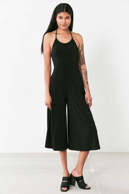 Silence + Nose Strappy-Back Knit Culotte Jumpsuit