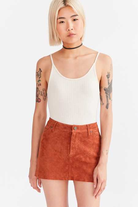 Cooperative Colette Suede Mini Skirt
