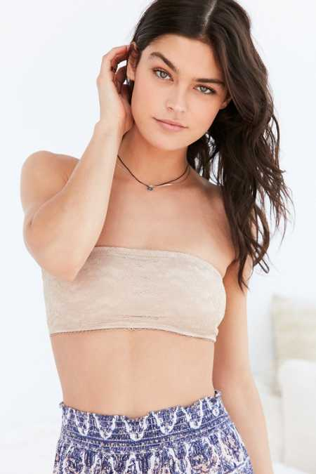 Basic Lace Molded Cup Bandeau Bra