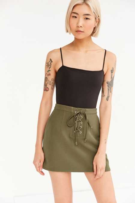 Cooperative Lace-Up Mini Skirt