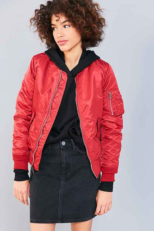 Alpha Industries MA-1 Bomber Jacket,RED,S