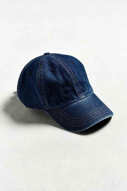 UO Curved Brim Baseball Hat,INDIGO,ONE SIZE
