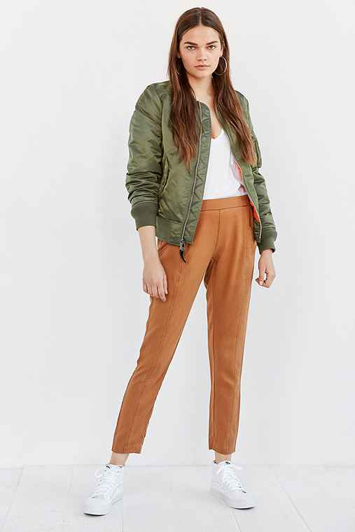 Silence + Noise Riley Washed Pull-On Pant,HONEY,M