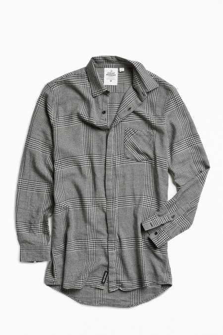 Cheap Monday Checked Flannel Long Button-Down Shirt
