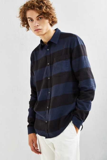 Cheap Monday Bolt Stripe Flannel Button-Down Shirt