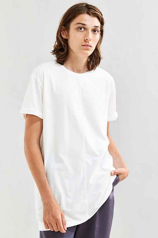 Feathers Center Seam Long Tee,WHITE,L