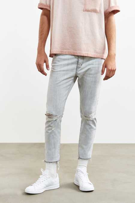 Neuw Cropped Destructed Ray Slim Jean