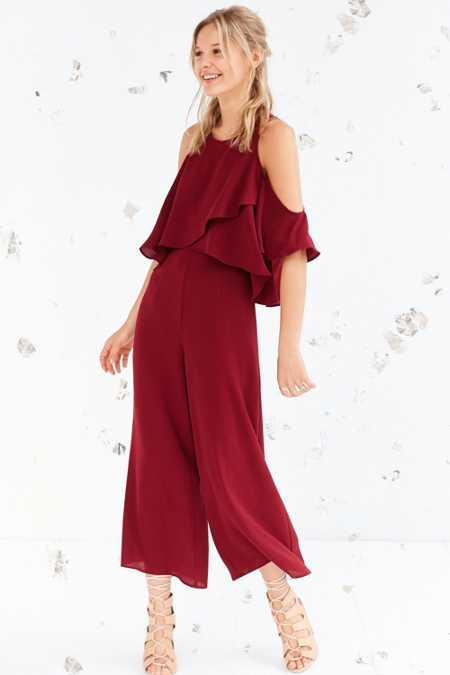The Fifth Label Lovers + Friends Cold Shoulder Culotte Jumpsuit