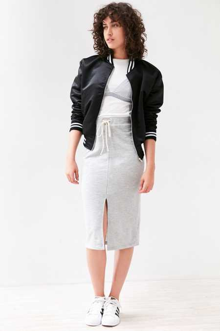 Silence + Noise Sporty Tie-Front Midi Skirt