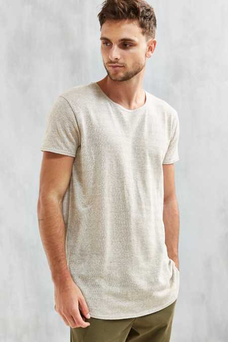 UO Hemp Blend Long Loose Scoopneck Tee