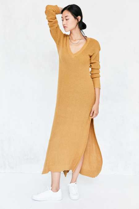 Somedays Lovin Honey Jam Maxi Sweater Dress