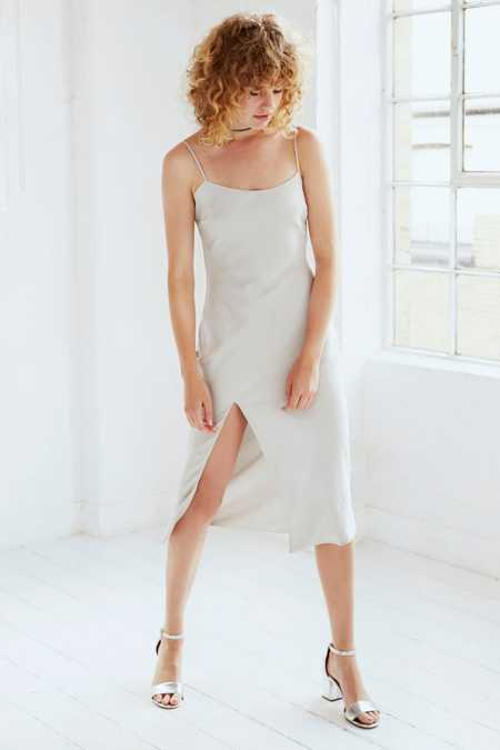 Capulet Satin Midi Slip Dress