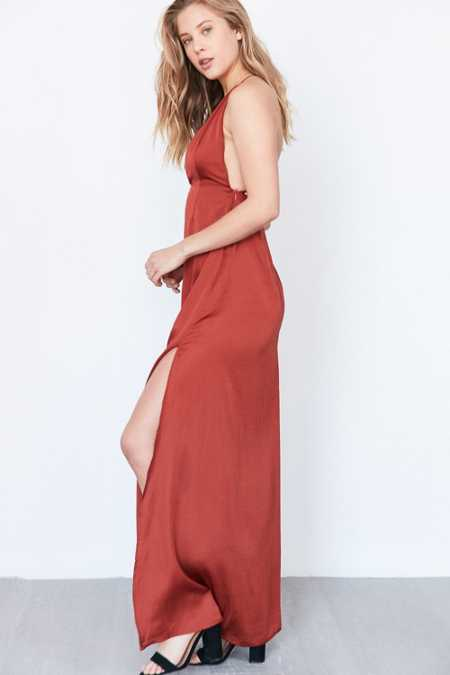 Capulet Plunging Satin Maxi Dress