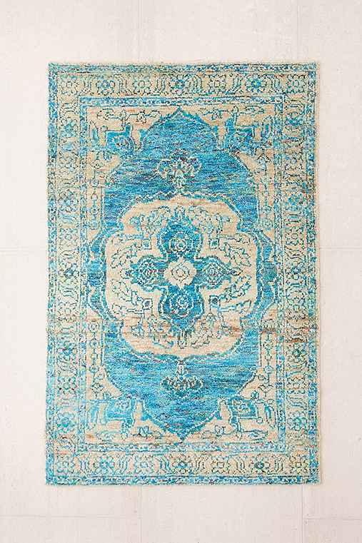 Jasmine Woven Tufted Wool Rug,SKY,4X6