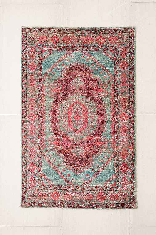 Jasmine Woven Tufted Wool Rug,PINK,4X6