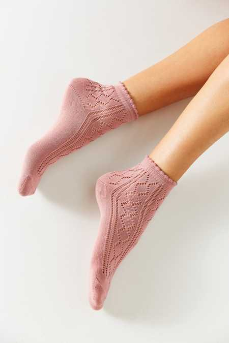 Open Work Scalloped Trouser Sock