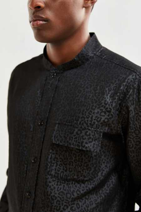 Fried Rice Leopard Print Button-Down Shirt
