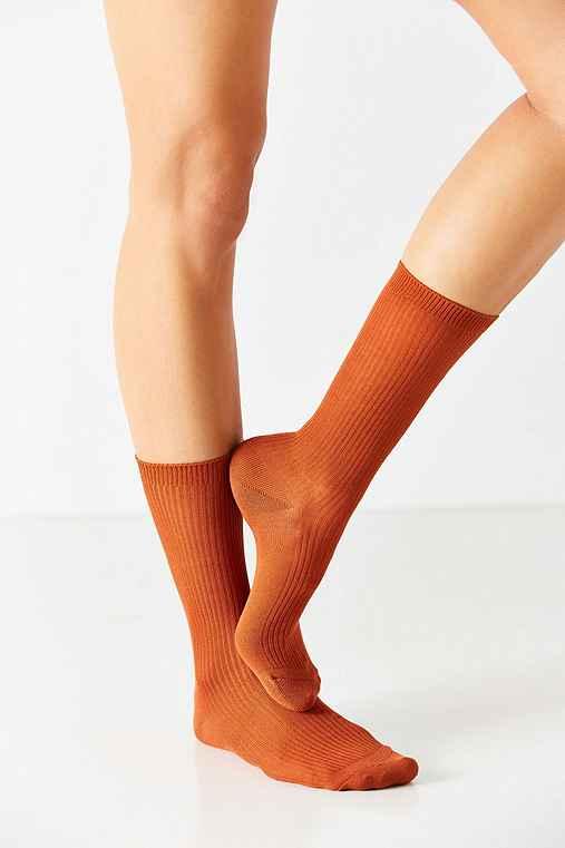 Basic Ribbed Trouser Sock,BRIGHT ORANGE,ONE SIZE