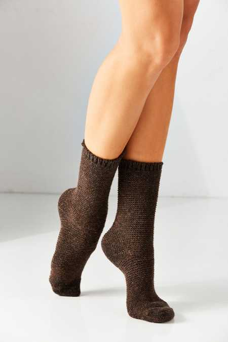 Grunge Textured Boot Sock