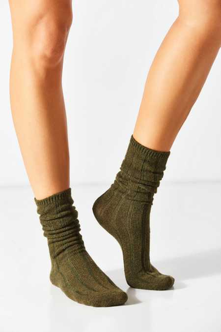Slouchy Ribbed Sock