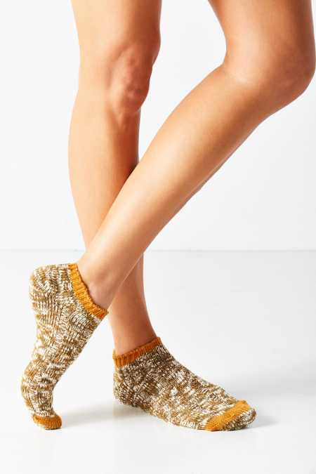 Marled Yarn Ankle Sock