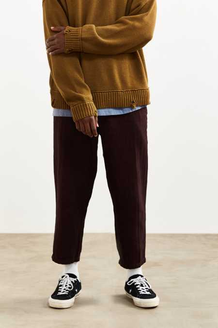 UO Herringbone Relaxed Cropped Chino Pant