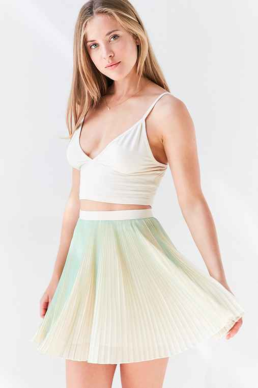 Kimchi Blue Sammy Pleated Mini Skirt,MINT,12