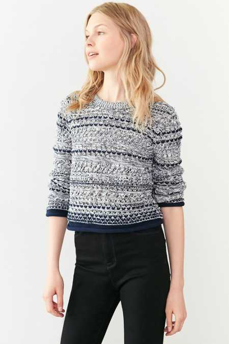 Cooperative Multi-Stitch Pullover Sweater