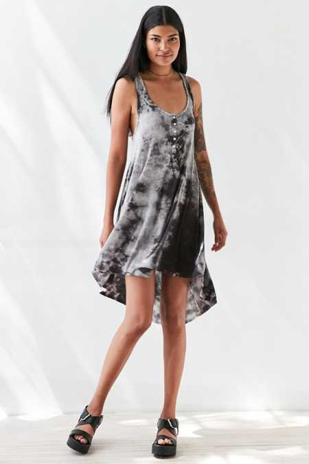 Silence + Noise Henley Tank Dress