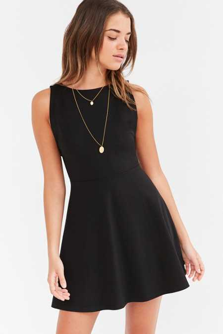 Cooperative Ponte Pinafore Mini Dress