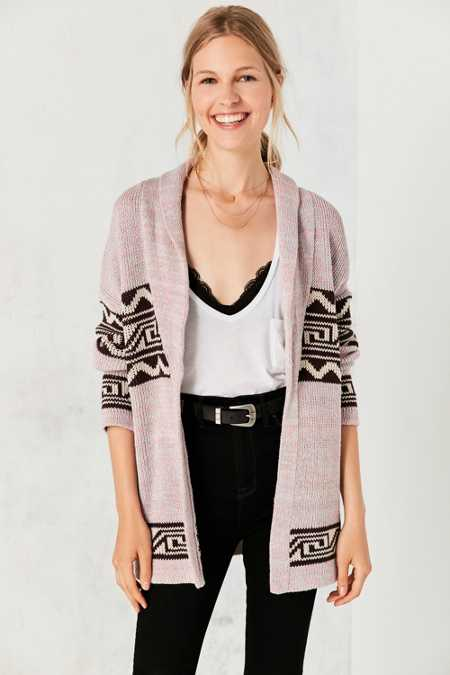Ecote Patterned Shawl Cardigan