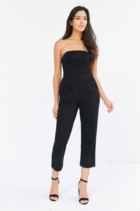 Silence + Noise Strapless Knit Jumpsuit