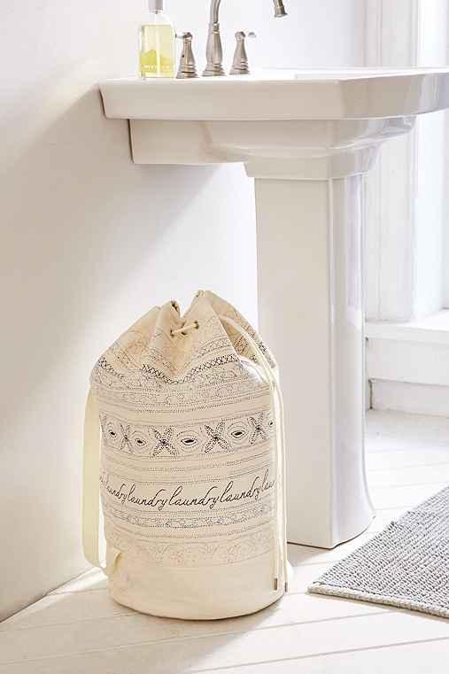 Marisol Stitched Laundry Bag,MULTI,ONE SIZE