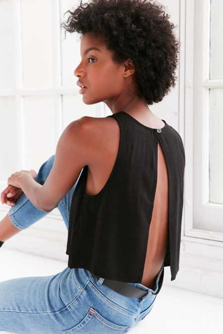 BDG Jimmy Split-Back Shell Tank Top