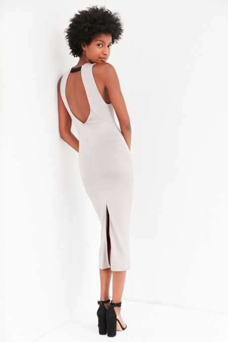 Silence + Noise Slinky Bodycon Midi Dress