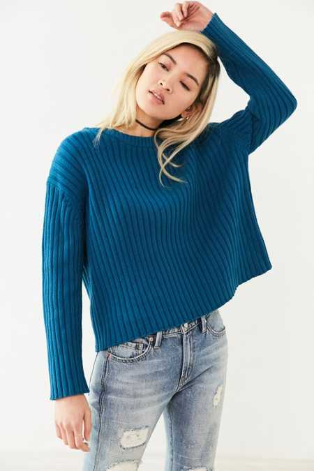 Silence + Noise Camila Vertical Rib Pullover Sweater