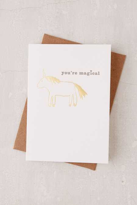 Egg Press You're Magical Foil Card