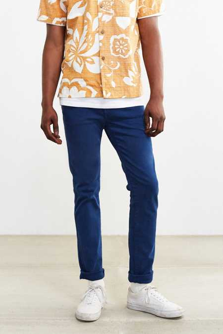 Dr. Denim Dry Blue Snap Skinny Jean