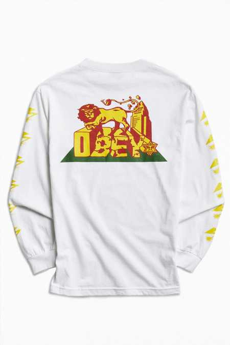 OBEY X Bad Brains Conquering Lions Long Sleeve Tee